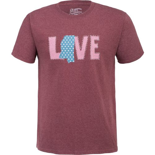 State Love Men's LOVE Mississippi Short Sleeve T-shirt - view number 1