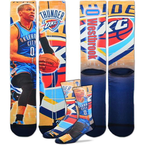 For Bare Feet Men's Oklahoma City Thunder Russell Westbrook Center Court Player Crew Socks