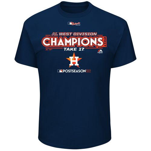 Display product reviews for Majestic Men's Astros Division Champions Locker T-Shirt