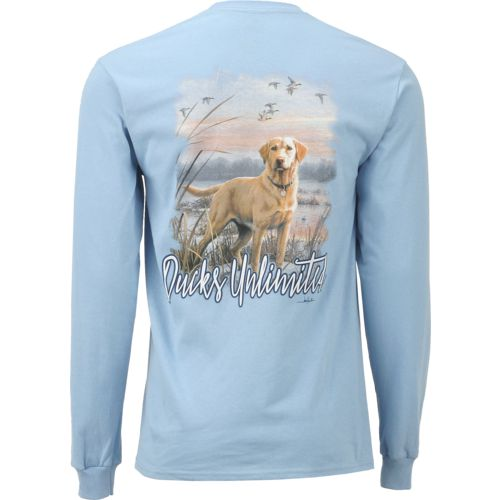Ducks Unlimited Men's Yellow Lab Long Sleeve T-shirt