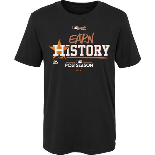 Majestic Little Kids Astros Division Clinch Earn History Locker Room T-Shirt