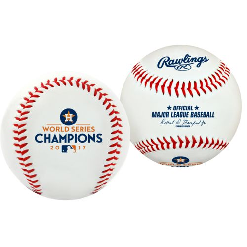 Rawlings Astros 2017 World Series Champions MLB Authentic Game Baseball