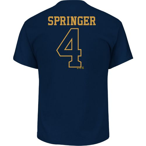 Majestic Men's Houston Astros George Springer 4 Gold Name and Number T-shirt