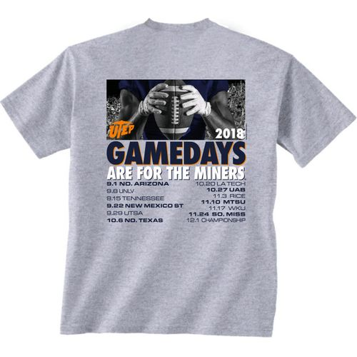 New World Graphics Men's University of Texas-El Paso Football Schedule T-Shirt