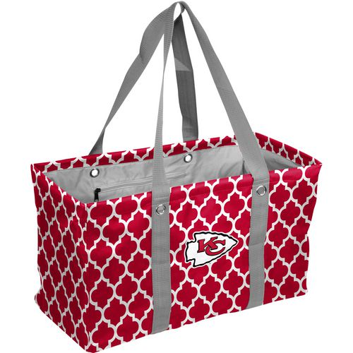 Logo Kansas City Chiefs Quatrefoil Picnic Caddy