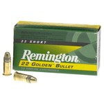 Remington Golden Bullet HV .22 Short 29-Grain Rimfire Rifle Ammunition