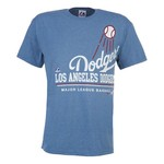 Majestic Men's Los Angeles Dodgers Submariner Heathered Short Sleeve T-shirt