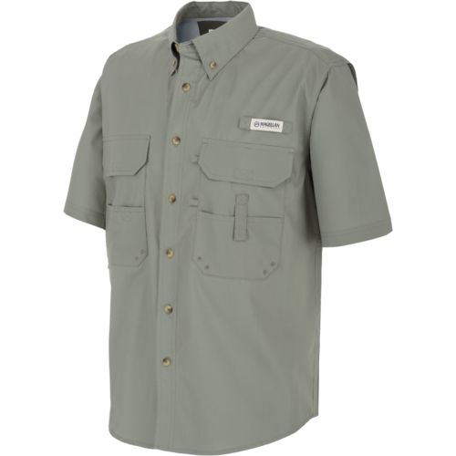 Magellan outdoors men 39 s lake fork short sleeve fishing for Mens fishing shirts