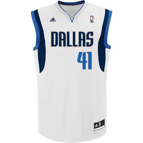 adidas™ Men's Dallas Mavericks Dirk Nowitzki #41 NBA Revolution 30 Replica Jersey
