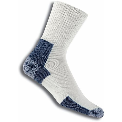 Thorlos Men's Running Crew Socks (White/Navy, Size Large) - Athletic Socks Shoes at Academy Sports -  adult