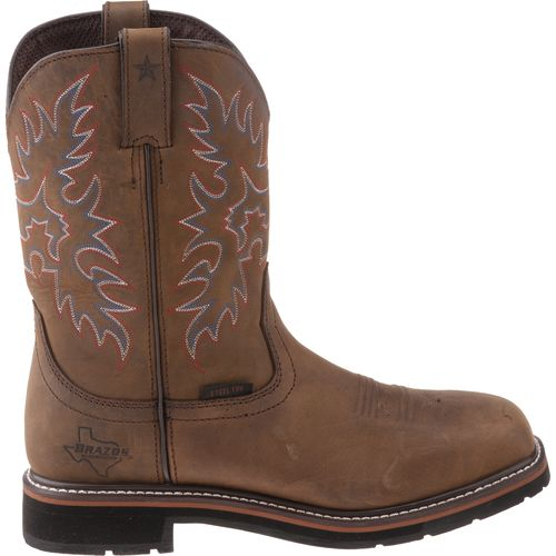 Display product reviews for Brazos™ Men's Bandero Texas Edition Square Toe Wellington Work Boots