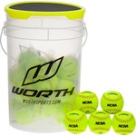 "Worth® FPEX 24 Count 11"" Fast-Pitch Softballs Bucket"