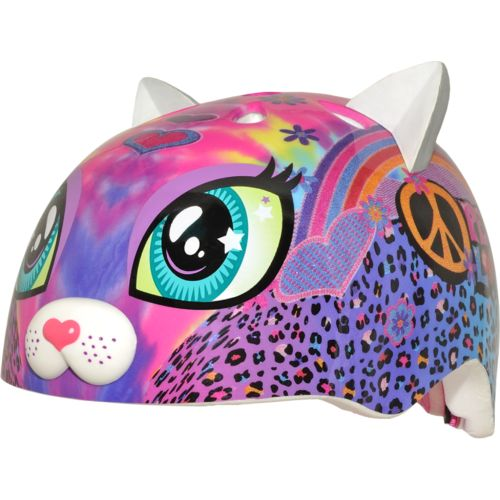 Display product reviews for Raskullz Kids' Peace Love Kitty Helmet