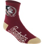 For Bare Feet Men's Florida State University Team Color Quarter Socks