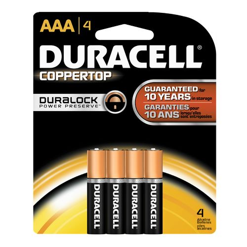 Duracell Coppertop AAA Batteries 4-Pack