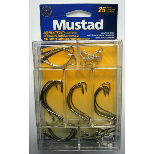 Mustad Assorted Redfish and Seatrout Hooks 25-Pack