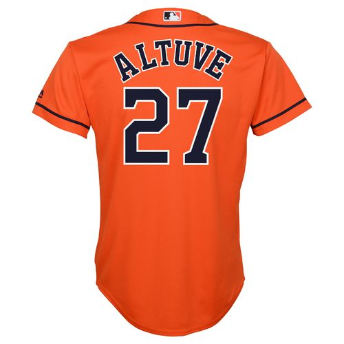 MLB Boys' Houston Astros Jose Altuve #27 Cool Base Alternate Replica Jersey