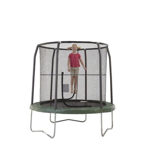 Jumpking Bazoongi Jumppod 7.5' Round Trampoline with Enclosure