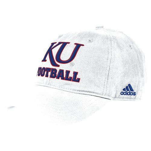 adidas™ Men's University of Kansas Cotton Adjustable Slouch Cap