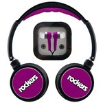 Sentry Rockers Folding DJ Headphones and Earphones Combo Pack
