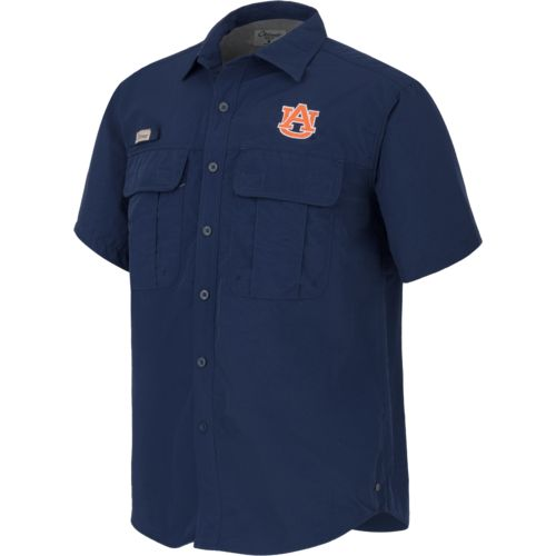 Colosseum Athletics Men's Auburn University Swivel Fishing Shirt