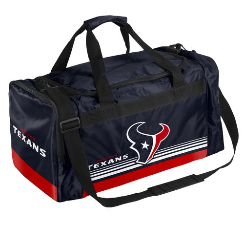 Forever Collectibles™ Houston Texans Medium Striped Core Duffel Bag
