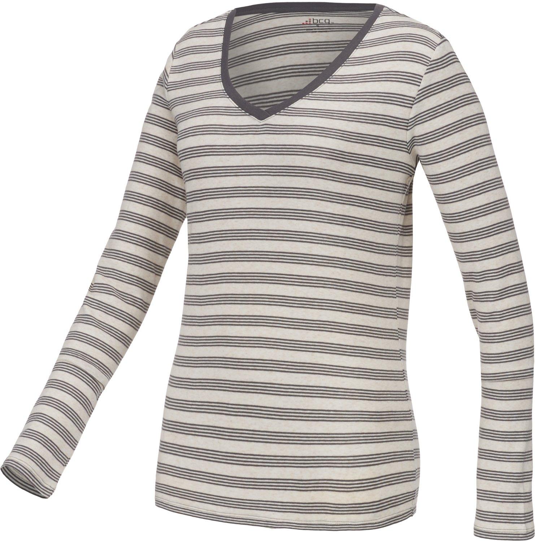 BCG™ Women's Striped Territory Long Sleeve V-neck T-shirt
