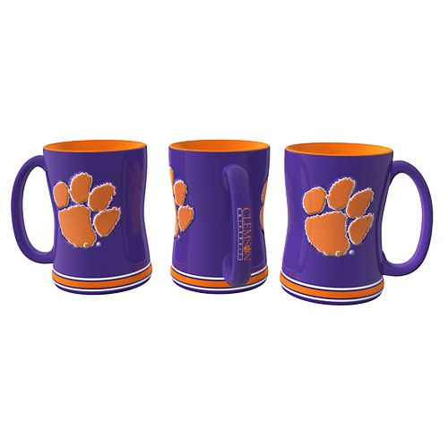 Boelter Brands Clemson University 14 oz. Relief-Style Coffee Mug