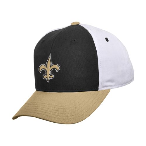 NFL Kids' New Orleans Saints Colorblock Adjustable Cap
