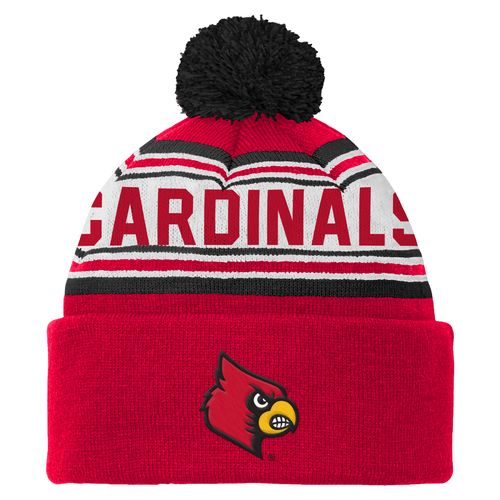 adidas™ Boys' University of Louisville Cuffed Knit Cap with Pom
