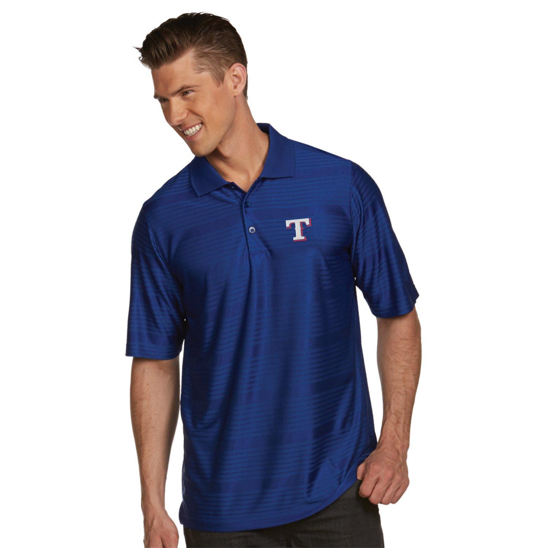 Antigua Men's Texas Rangers Illusion Polo Shirt hot sale
