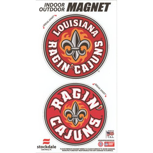 Stockdale University of Louisiana at Lafayette Logo Magnets
