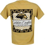 Image One Women's University of Southern Mississippi Double Pattern Scroll T-shirt