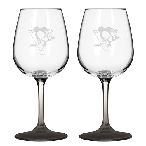 Boelter Brands Pittsburgh Penguins 12 oz. Wine Glasses 2-Pack