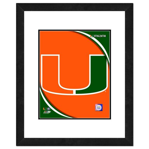 Photo File University of Miami Logo 16' x 20' Matted and Framed Photo