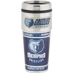 Great American Products Memphis Grizzlies Metallic Wrap 16 oz. Travel Tumbler