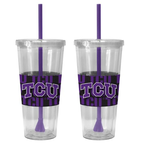 Boelter Brands Texas Christian University Bold Neo Sleeve 22 oz. Straw Tumblers 2-Pack
