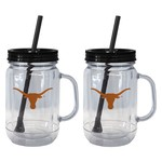 Boelter Brands University of Texas 20 oz. Handled Straw Tumblers 2-Pack - view number 1
