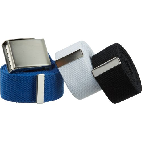 BCG™ Men's Adjustable Web Belts 3-Pack