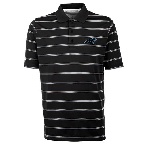 Antigua Men's Carolina Panthers Deluxe Polo Shirt - view number 1