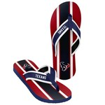 Forever Collectibles™ Men's Houston Texans 2016 Contour Stripe Flip-Flops