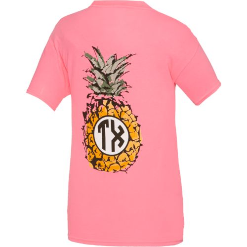 Royce Juniors' State Pride Texas Pineapple Monogram T-shirt
