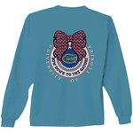 New World Graphics Women's University of Florida Ribbon Bow Long Sleeve T-shirt