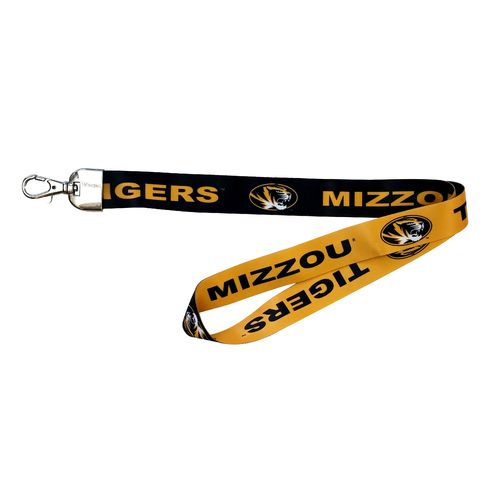 NCAA University of Missouri 2-Tone Lanyard