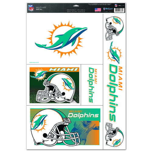 WinCraft Miami Dolphins Multiuse Decals Set