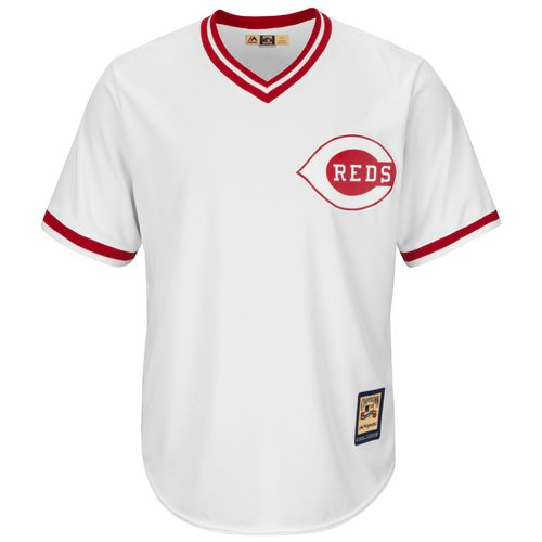 Majestic Men's Cincinnati Reds Joey Votto #19 Cool Base Cooperstown Jersey - view number 3