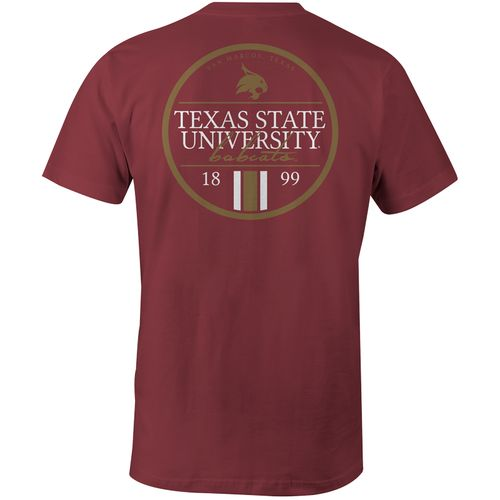 Image One Men's Texas State University Simple Circle Lines Comfort Color T-shirt