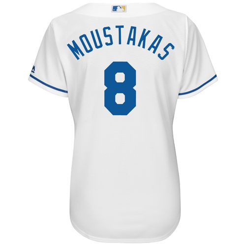 Majestic Women's Kansas City Royals Mike Moustakas #8 Cool Base® Replica Home Jersey - view number 1
