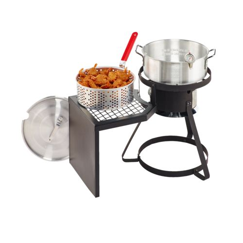 outdoor gourmet pro 10 qt fish fryer set wit with side table view number 6