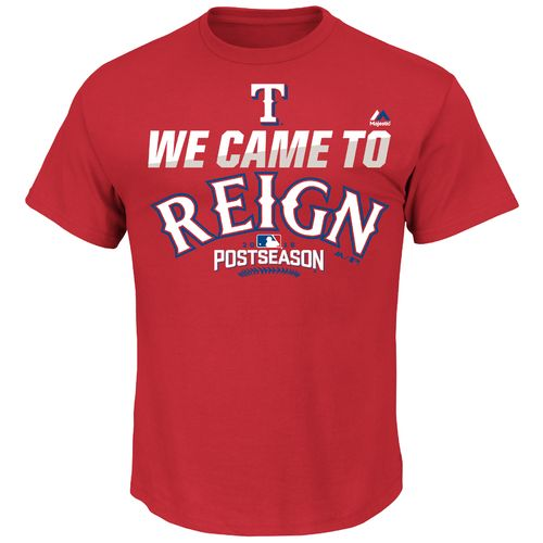 Majestic Men's Texas Rangers We Came to Reign 2016 Postseason T-shirt